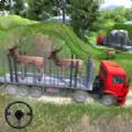 动物货运卡车运输动物装载