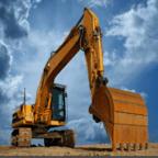 模拟施工挖掘机
